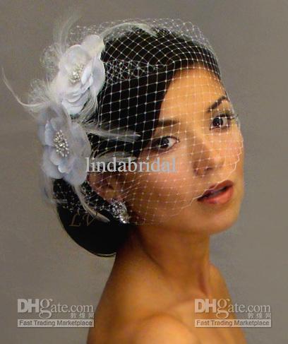 bridal veil accessories short wedding veil white ivory two