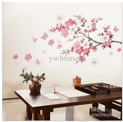 Tree Wall Art Stickers pink cherry blossom tree wall stickers flowers decals wall art
