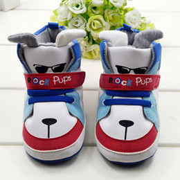 Wholesale Cool Toddler Shoes Boys - BX13 New Warm Cartoon Cool Dog Newborn Baby First Walker Shoes Toddler Baby Boys Infant Boot