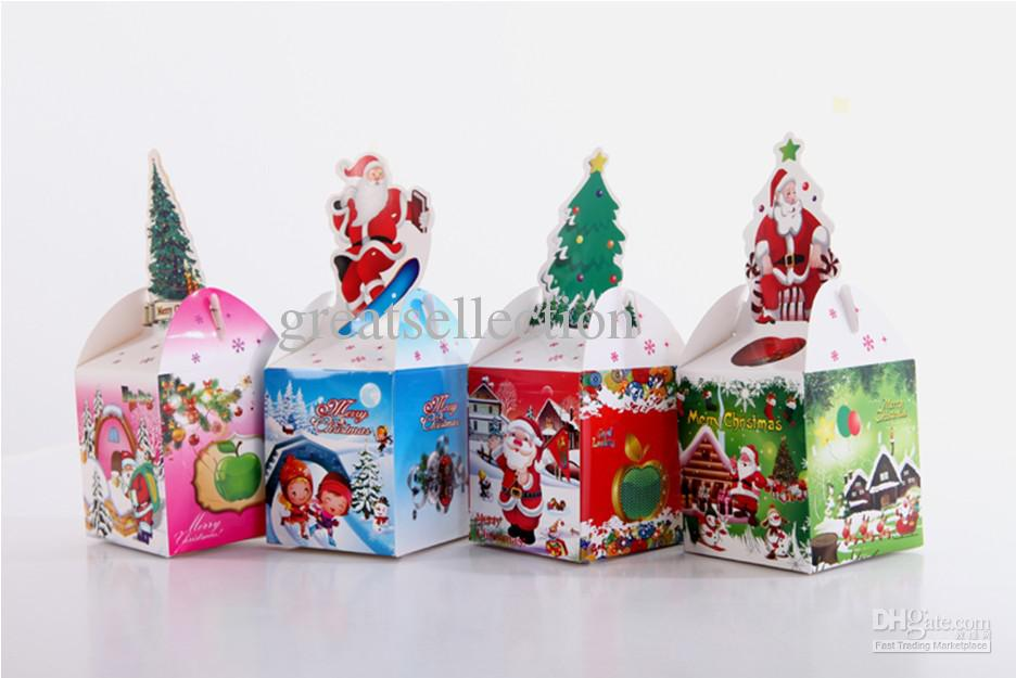 Christmas Gift Boxes Wholesale.Christmas Gift Box Packing Foldable Paper Box Red Green Blue Yellow Candy Boxes Fast Ship By Fedex Ups Dhl Gift Wrapped Gifts Gift Wrapped Presents