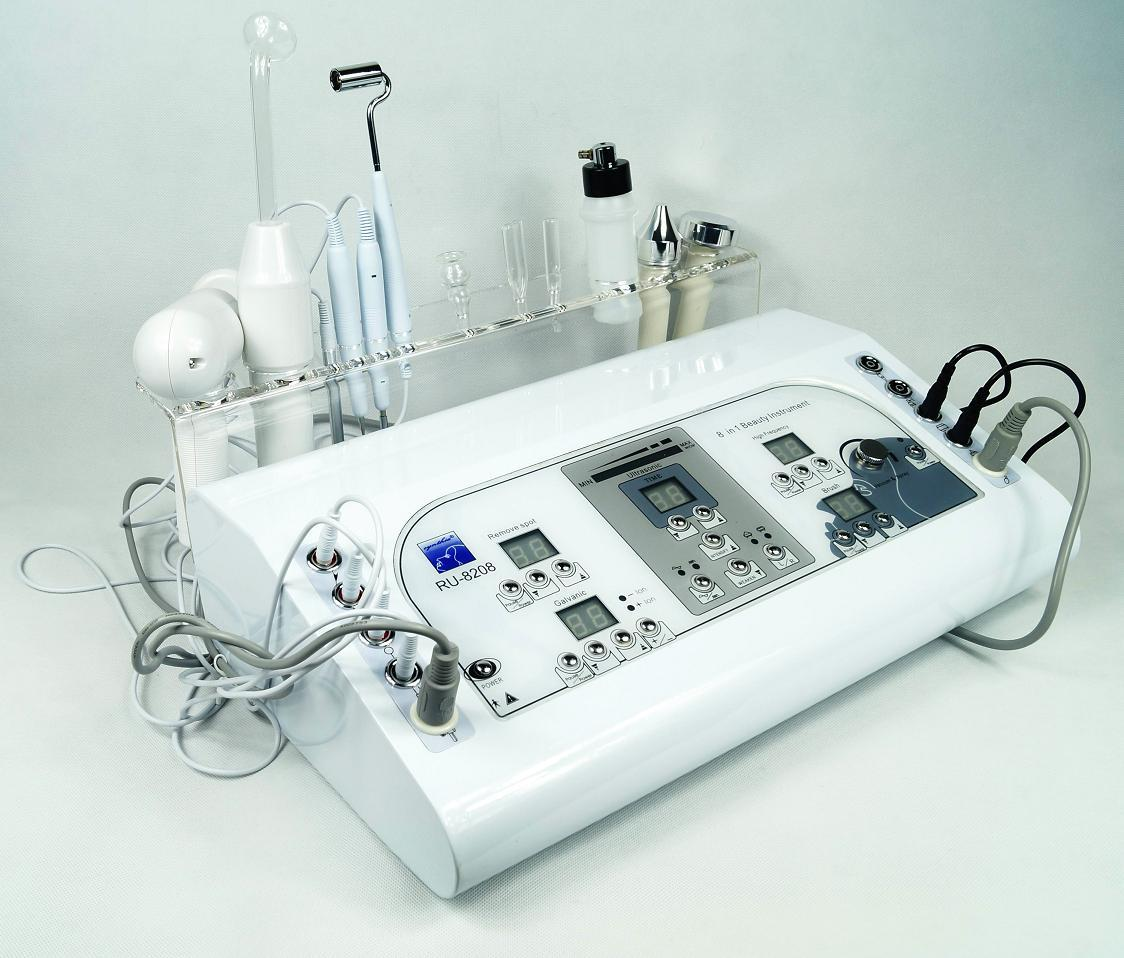 Au-8208 Best Choice acne treatment 7 in 1 skin rejuvenation skin care massager equipment for sale