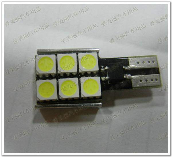 Высокое качество 20 шт. 5050 6 SMD предупреждение canceller авто светодиодные лампы Canbus без ошибок 6 светодиодов номерного знака интерьер лампы 12 в