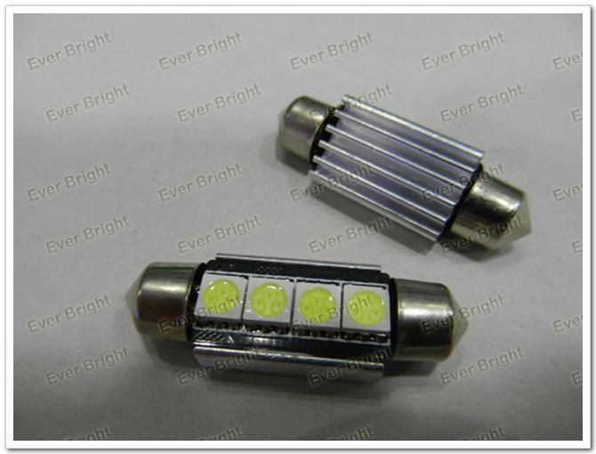 50 stücke Canbus 4 Led 4 SMD NUMMER PLATE LIGHT LED BIRNE 239 C5W Fehlerfrei