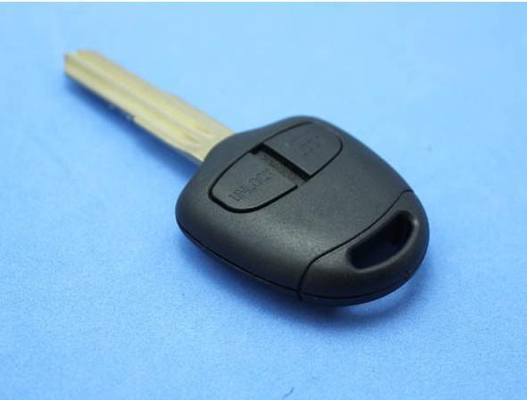 Byte Husskal Remote Blank Key Case FOB 2 Knapp för Mitsubishi Pajero Triton Lancer Evo Vänster blad