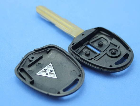 Reemplazo de la vivienda Shell remoto en blanco Funda clave Fob 2 botón para MITSUBISHI Pajero Triton Lancer Evo hoja izquierda