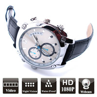 Wholesale Swiss Post - New Arrival 16G HD 1080P Watch Camera MINI DV DVR Waterproof Candid Spy Camera with USB cable and User's Manual Free shipping via Swiss post