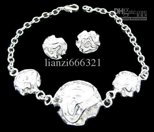 Envío gratis con número de seguimiento Nueva moda joyería encantadora de las mujeres 925 Silver 12 Mix Jewelry Set