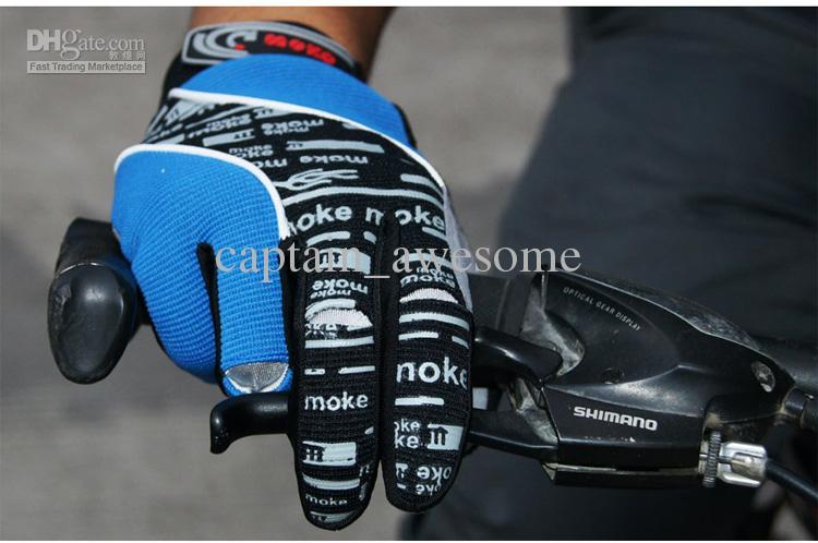 NEW Winter Bicycle Full Finger Gloves Black or Blue Color Size M - XL Cycling Bike Gloves