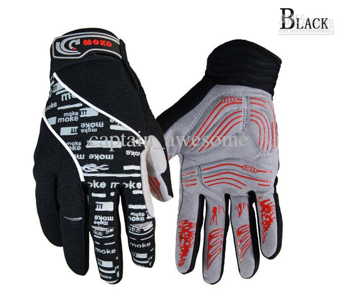 NUEVO Winter Bicycle Full Finger Gloves negro o azul Color talla M - XL Cycling Bike Gloves