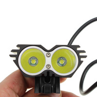 Wholesale Cycle Light Led Cree 2x - 5000LM 2x CREE XML XM-L T6 LED Bicycle Bike Light Lamp cycling X2 bike light headlamp headlight+Charger+battery