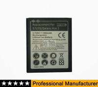 Wholesale Galaxy Exhibit - B100AE Battery for Samsung Galaxy Trend II GT-S7898 Galaxy ACE 3 S7270 Metropcs Galaxy Exhibit T599 Battery 1900mAh 100pcs   lot