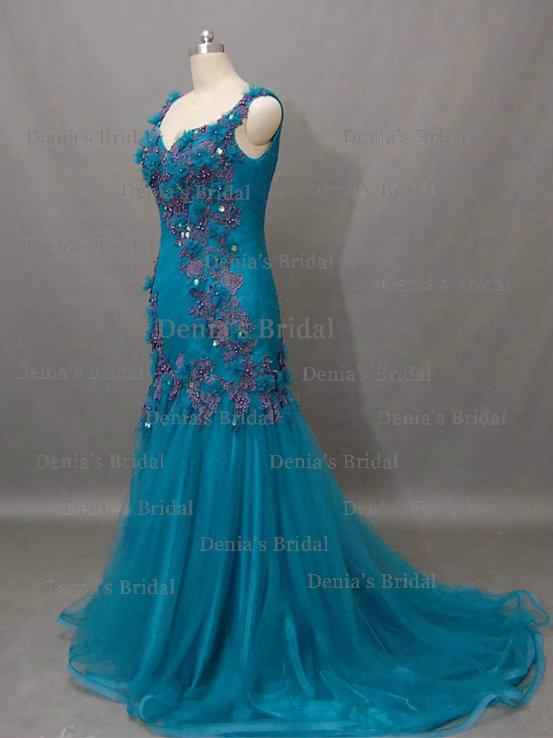 2013  green evening dresses 1512
