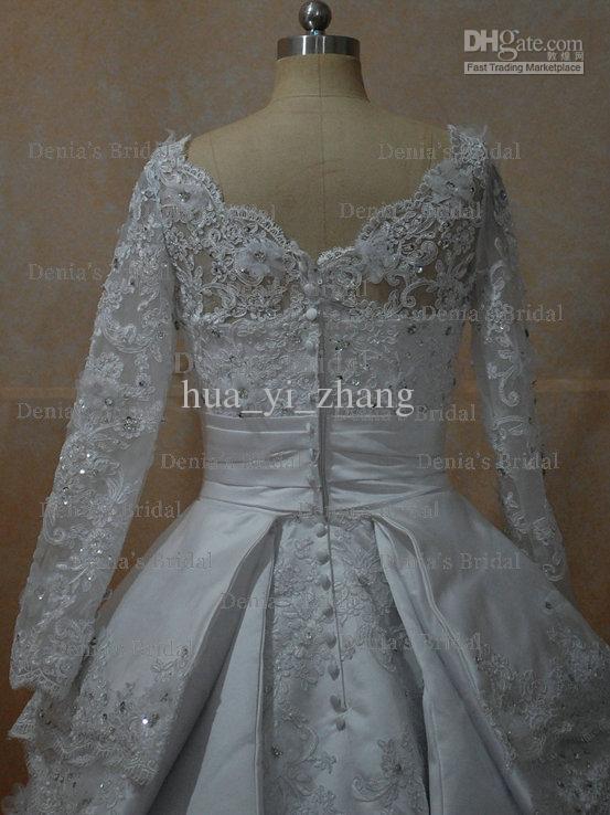 2013 zuhair murad long sleeve wedding dresses