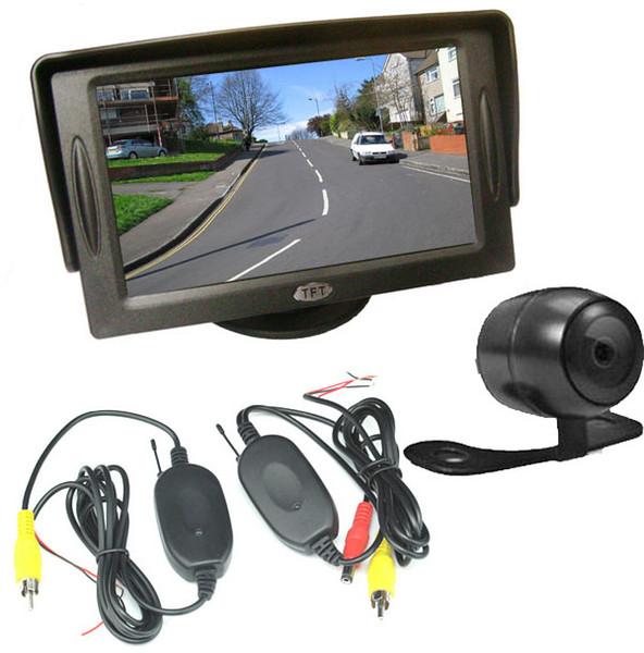 "Mini Wireless Reverse Camera 170 Degree wide + 4.3"" LCD Monitor Car Rear View Kit"