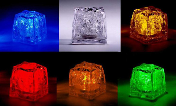 96pcs/lot=8box LED Ice Cubes Flash Light,wedding Party light ice,crystal Cube color flash,Christmas gifts