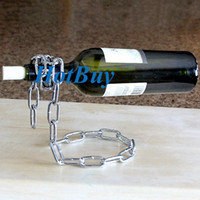 Wholesale Magic Chain Bottle Holder - Magic Chain Wine Bottle Holder Wine Rack Chain Bottle Stand Gift Boxed Cool Gift #2282