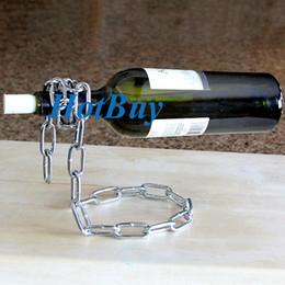 Wholesale Cool Racks - Magic Chain Wine Bottle Holder Wine Rack Chain Bottle Stand Gift Boxed Cool Gift #2282