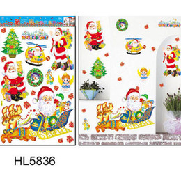 Wholesale Free People Room - Free shipping , Santa Claus, Christmas Wall Stickers, displaywindow stickers, Christmas Ornaments 5pcs lots