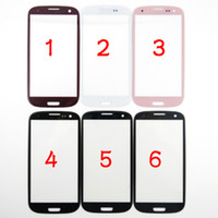 Wholesale S3 Red Screen - For Samsung Galaxy S3 SIII I9300 Outer Front Glass Lens Screen External Digitizer Touch Screen Cover Pebble Blue Black White Gray Pink Red