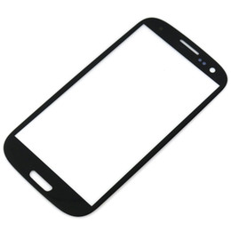 Wholesale S3 Lens - For Samsung Galaxy S3 SIII I9300 Outer Glass Lens Front Screen Digitizer Touch Screen Cover Black White DHL EMS MOQ20 Pcs