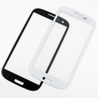 Wholesale s3 screen white - Outer Front Glass Lens Screen Digitizer Touch Screen Cover For Samsung Galaxy S3 SIII I9300 Black White High Quality