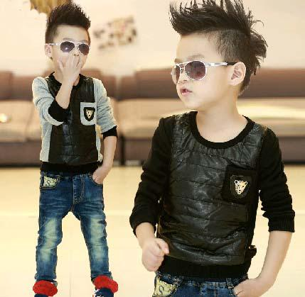 97f92d3567be Boys Casual T Shirt Kids Clothing Fashion Animal Pattern Shirts Long ...