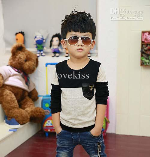 5aa427f034d9 Child Clothing Kids Wear Fashion Round Neck Shirts Boys Clothes ...