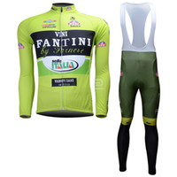Wholesale Thermal Fantini - 2013 FANTINI cycling long sleeve thermal jersey and bib pants free shipping wordwide