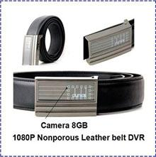 Wholesale Hd Hours - Free Shipping Full HD 8GB 1080P buit-in 300MAH Nonporous Leather belt spy Camera DVR Support 8GB 16GB 32GB support for work 2 hours