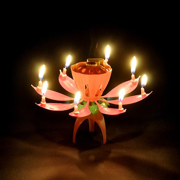 Played Happy Birthday Beautiful Melody Then Automatically Open Bud Sparkling Candle Like A Blossoming Lotus As Friends And Family Birthdays Add