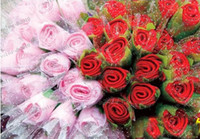 Wholesale Rose Towel Cake - LFLA2868 Wedding Favor Gifts cake towel Rose flower Towel cotton towel Free shipping