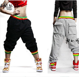 Wholesale Mens Dance Harem Sweatpants - Fashion Womens and Mens Unsex Casual Harem Jogging Pants Hip Hop Dance Sports Trousers Baggy Girls Ladies SweatPants Jogger Boys Slacks