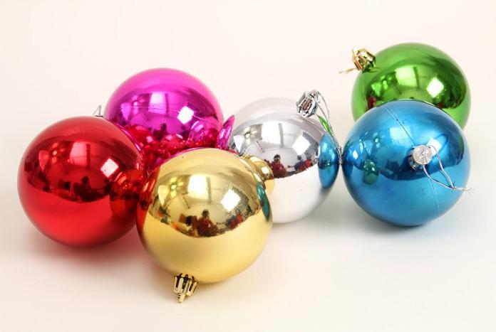 mix colors 3cm 4cm 6cm 3cm Matt Color Christmas Ball Laser Bright Balls For Christmas Tree Decoration New Year Adornos Navidad
