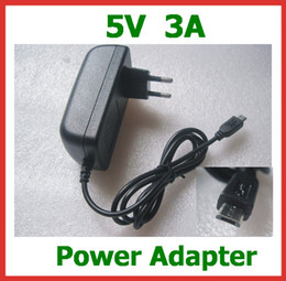 Wholesale Eu Charger Micros Usb - 5V 3A Micro USB Charger for Tablet PC Onda V975m V975 V972 V973 Cube U55GT Vido M1 Teclast X98 Air 3G Power Adapter Supply EU US UK Plug