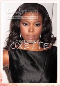 Oxette wellenförmige Spitzefrontseitenperücken für Afroamerikanerfrauen volle Spitzeperücke brasilianisches reines Menschenhaar gebleichte Knoten