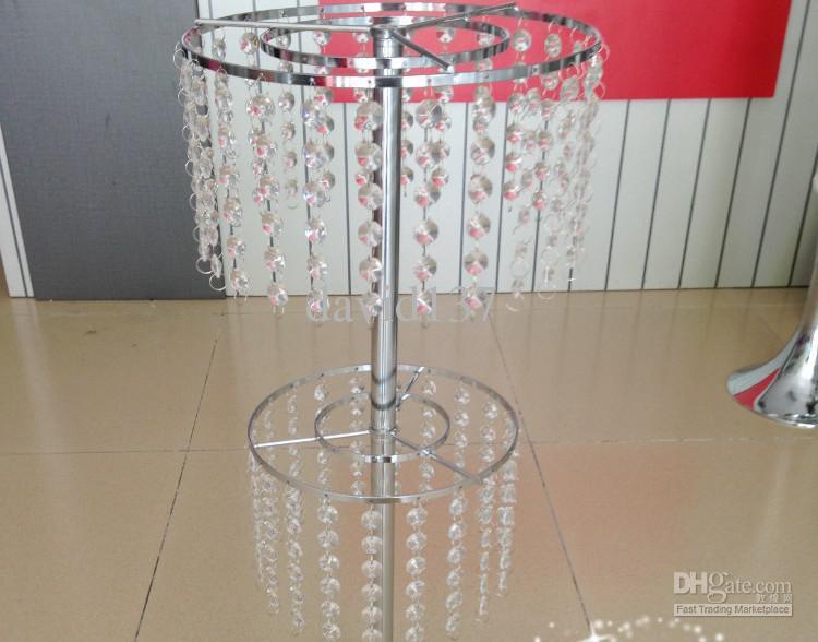 Nieuw! Elegante mooie Crystal Flower Stand Bruiloft Crystal Table Centerpieces