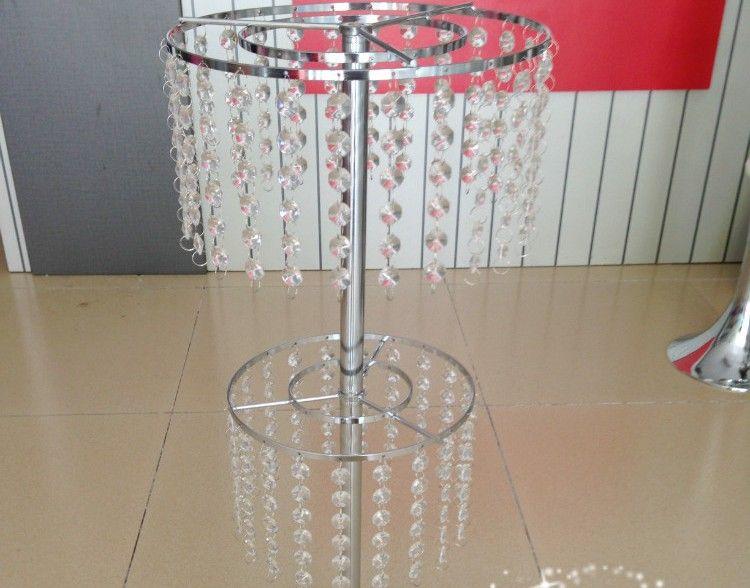 Nuovo! elegante bellissimo fiore di cristallo stand centrotavola di cristallo di nozze tavolo
