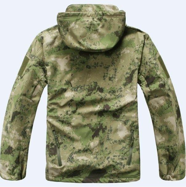TAD Windbreaker Jacket A-tacs FG Military Outdoor Sports Jacket Soft Hard Shell Windproof Jacket Coat