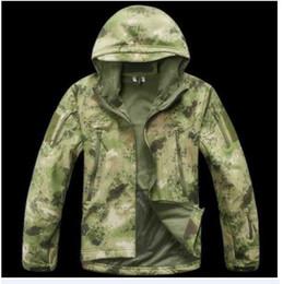 Wholesale Hard Shell Jacket - TAD Windbreaker Jacket A-tacs FG Military Outdoor Sports Jacket Soft Hard Shell Windproof Jacket Coat free shipping