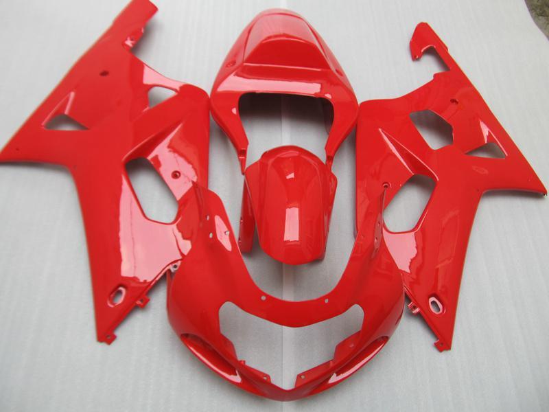스즈키 용 페어링 2001 2003 GSXR600 750 01 02 03 GSXR600 GSXR750 K1 01 02 03 핫 레드 페어링 킷 + 선물 7 개 SM166