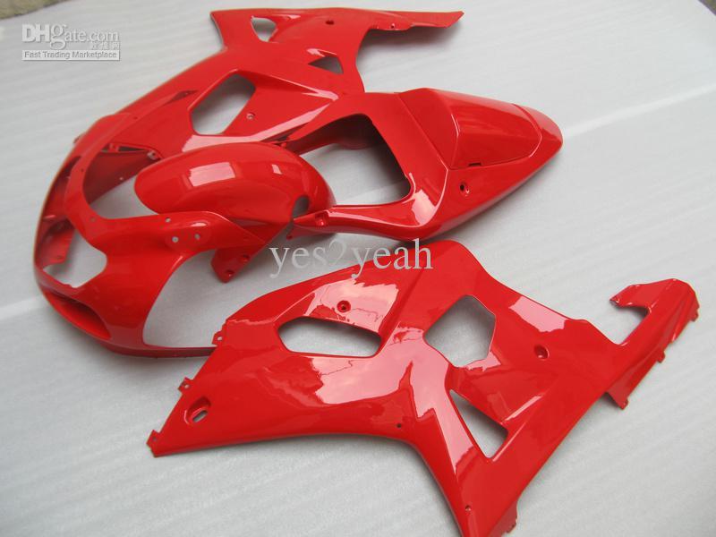 FAIRING FÖR SUZUKI 2001 2003 GSXR600 750 01 02 03 GSXR600 GSXR750 K1 01 02 03 Hot Red Fairings Kit + 7 Presenter SM166