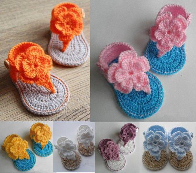 20off Crochet Baby Girl Flower Sandals Baby Gladiator Sandals