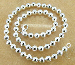 Discount silver ball chain 8mm - Free Shipping with tracking number Best NEW 925 STERLING SILVER 8MM BALL ROUND CHAINS NECKLACES JEWELRY