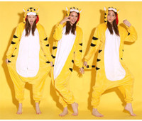 Animal Yellow Tiger Unisex Adult Onesies Onesie Pajamas Kigurumi Jumpsuit Hoodies Sleepwear для взрослых Добро пожаловать Оптовый заказ