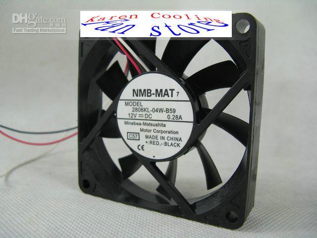 Ny original NMB 2806KL-04W-B59 7015 7cm DC 12V 0.28A dubbelkula CPU-kylfläkt