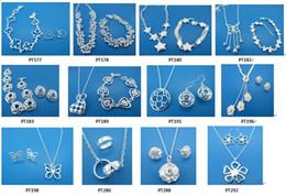Envío gratis con número de seguimiento BestMost Venta caliente de las mujeres delicado regalo joyería 925 chapado en plata mezclar conjunto de joyas