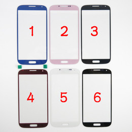 Samsung S5 Lens Canada - QUALITY A A- For Samsung Galaxy S4 S5 S6 A3 A5 A7 Outer Front Glass Lens Screen External Digitizer Touch Screen Cover 6 Colors