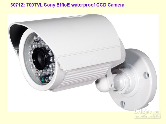 Free DHL or EMS Security CCTV Color Sony Effio 700TVL infrared CCD IR camera 30 IR Led with all in one bracket with wide angle lens