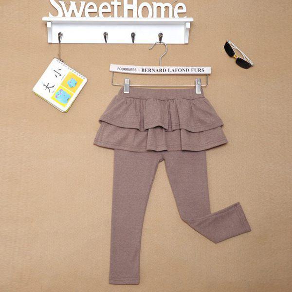 New girls skirt legging pant tights children skirts leggings pants baby pink gray brown black pure bot Choose Free,2-8T,