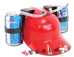 Wholesale Beer Cap Holder - Watch the game Essential supplies creative drinks hat Beer cap Holder Helmet Drinking Helmet Drinking Hat(random delivery)